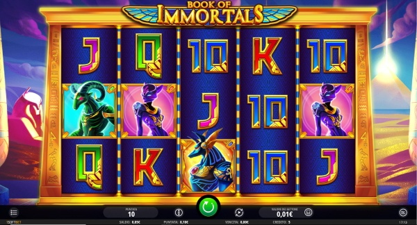 Book of Immortals slot machine
